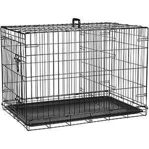 AmazonBasics Single Door and Double Door Folding Metal Dog Crate