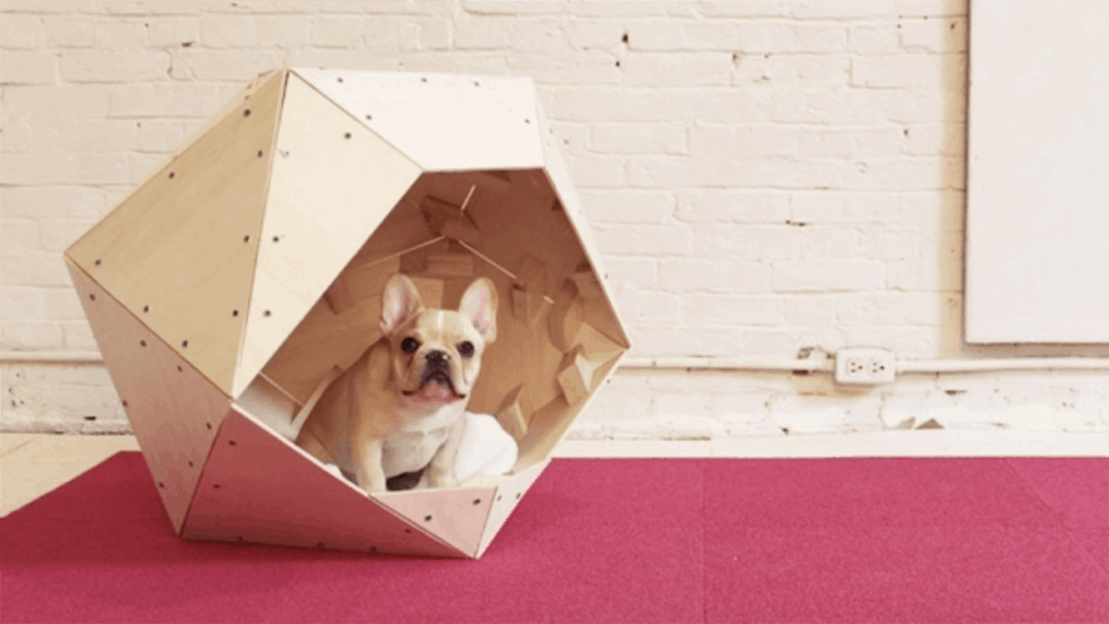 1. Contemporary Geometric Dog House