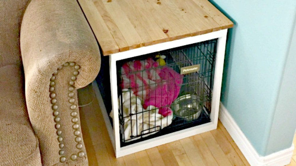 2. DIY End Table Dog Crate